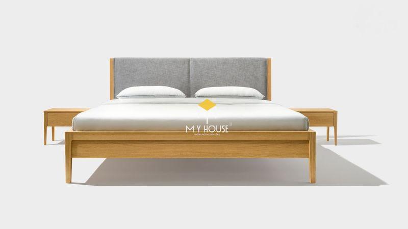 Thiết kế giường gỗ 4 chân cao chắc chắn và bắt mắt