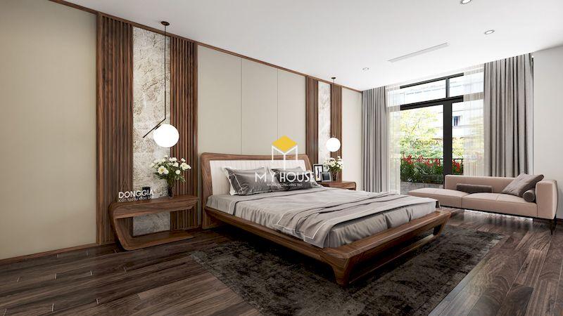 Giường gỗ 4 chân cao 3