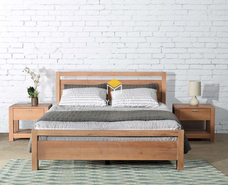 Bộ giường ngủ gỗ tự nhiên gỗ sồi