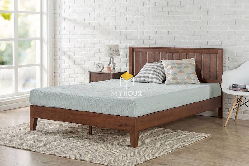 Giường gỗ 4 chân cao - thiết kế an toàn và tiện nghi sử dụng