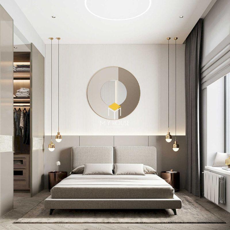 mẫu giường gỗ công nghiệp chân sắt có tính chịu lực và độ bền cao