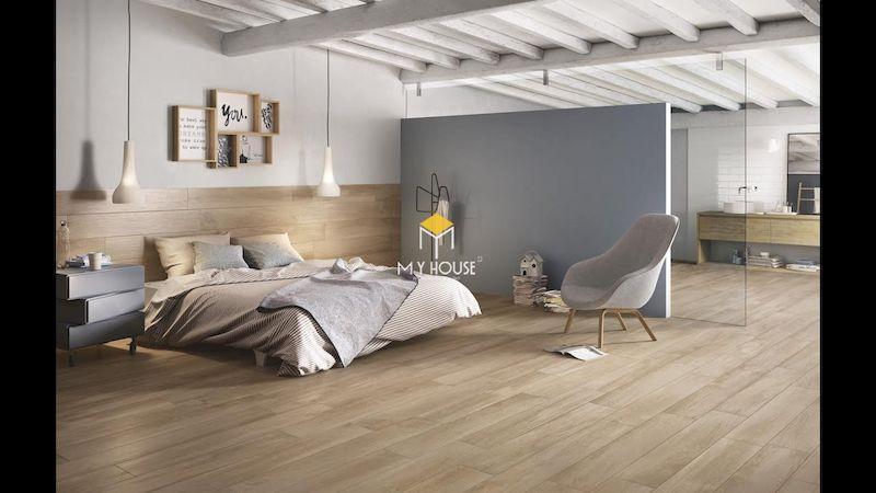 mẫu giường gỗ công nghiệp có chân hiện đại