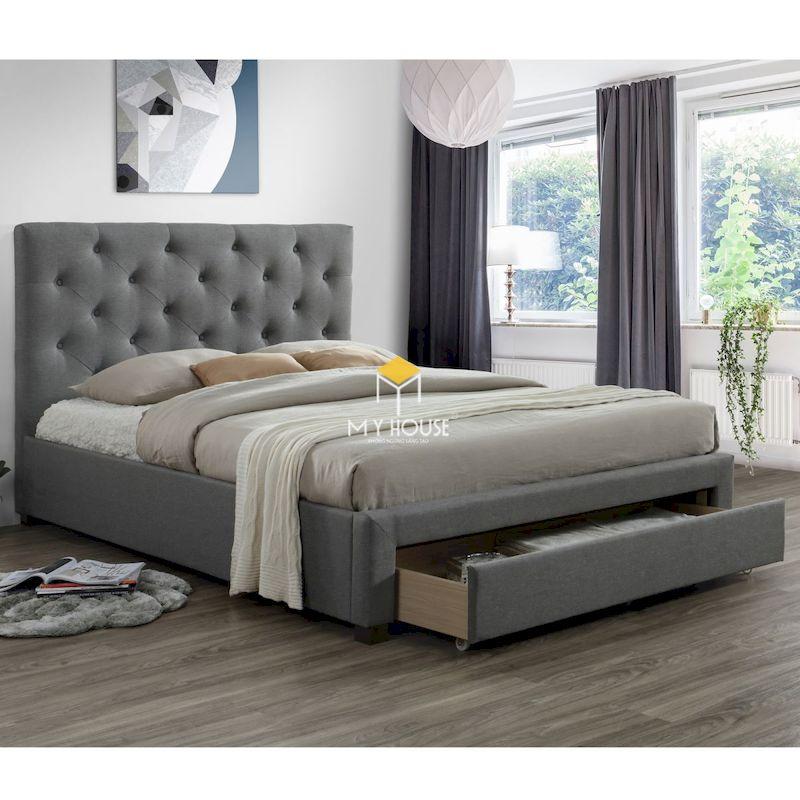 Mẫu giường gỗ công nghiệp đa năng chân thấp