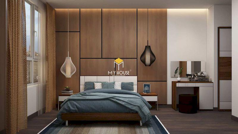 Kết cấu của giường gỗ công nghiệp có chân