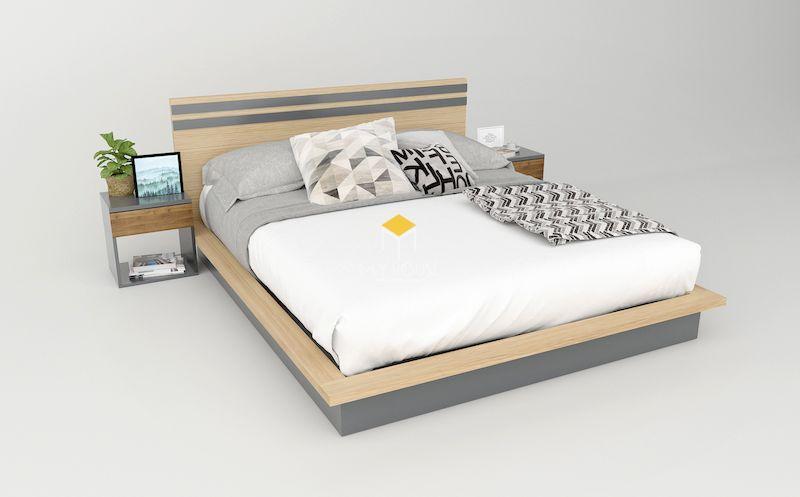 Giường gỗ công nghiệp đẹp cho chung cư
