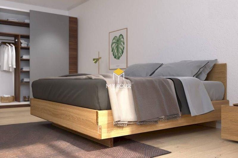 mẫu giường gỗ chân cao