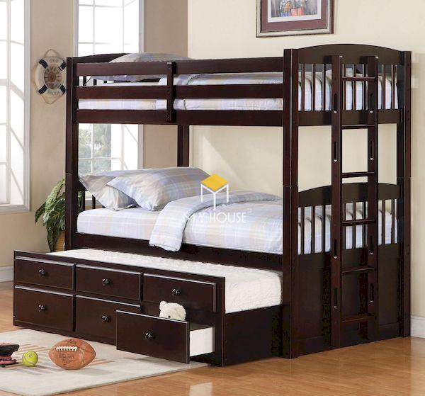 Mẫu giường tầng cho làm bằng gỗ tự nhiên, an toàn tuyệt đối cho trẻ