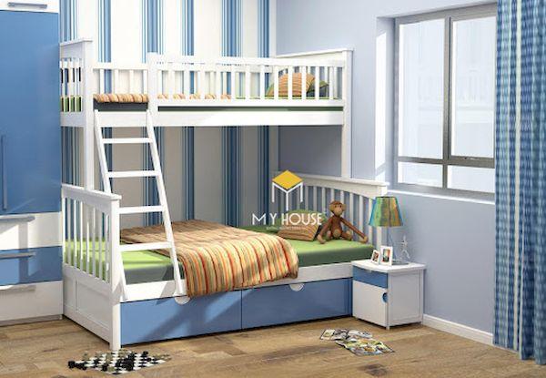 Trang trí giường tầng cho bé trai