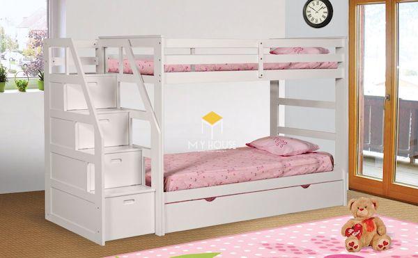 Mẫu giường tầng cho bé có cầu thang