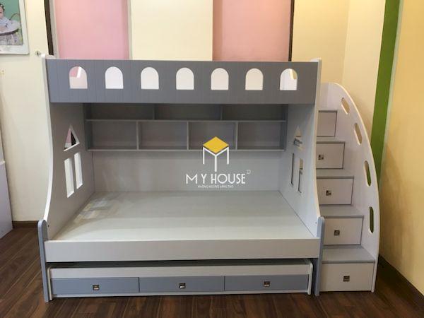 Thiết kế giường tầng cho bé tiết kiệm không gian