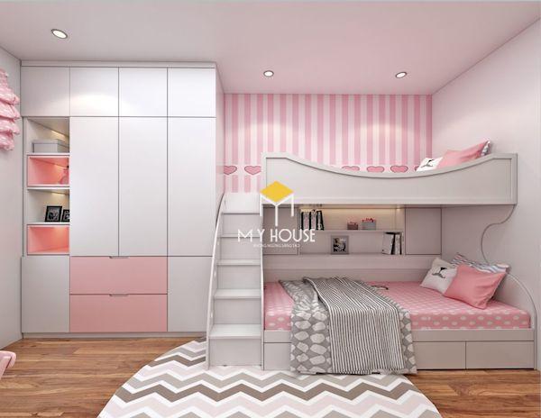 Giường tầng cho bé là từ chất liệu gỗ công nghiệp