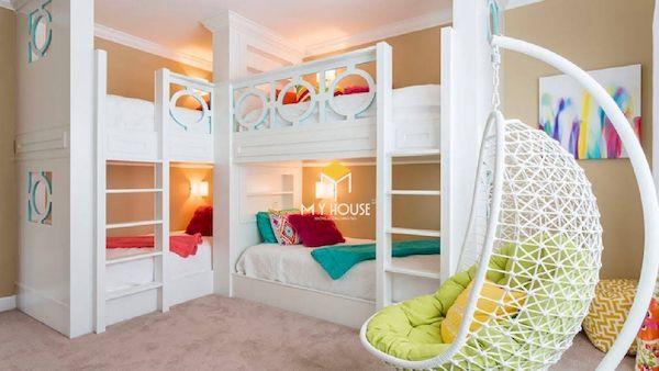 Mẫu giường tầng đẹp cho các bé