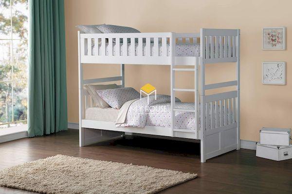 Giường tầng cho bé bằng gỗ thông to bản