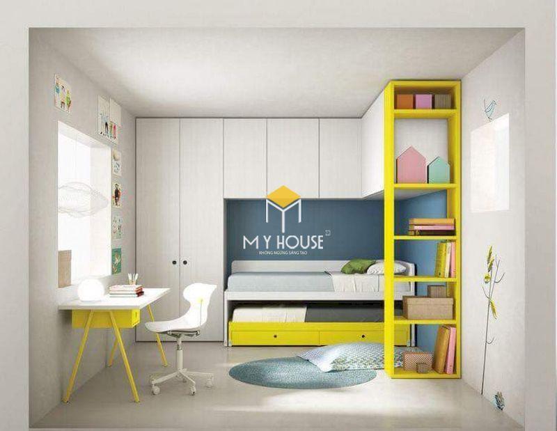 Thiết kế nội thất thông minh cho phòng ngủ nhỏ của bé