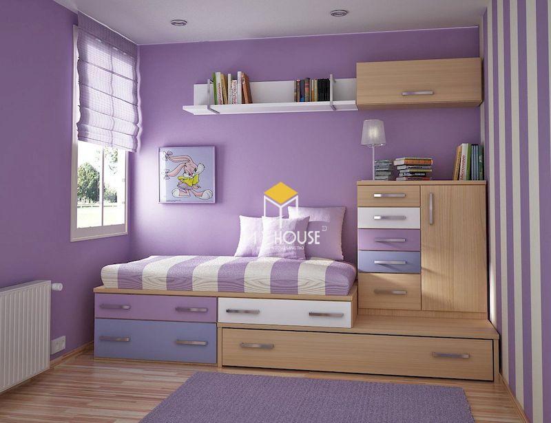 Thiết kế nội thất thông minh cho phòng ngủ nhỏ cho bé