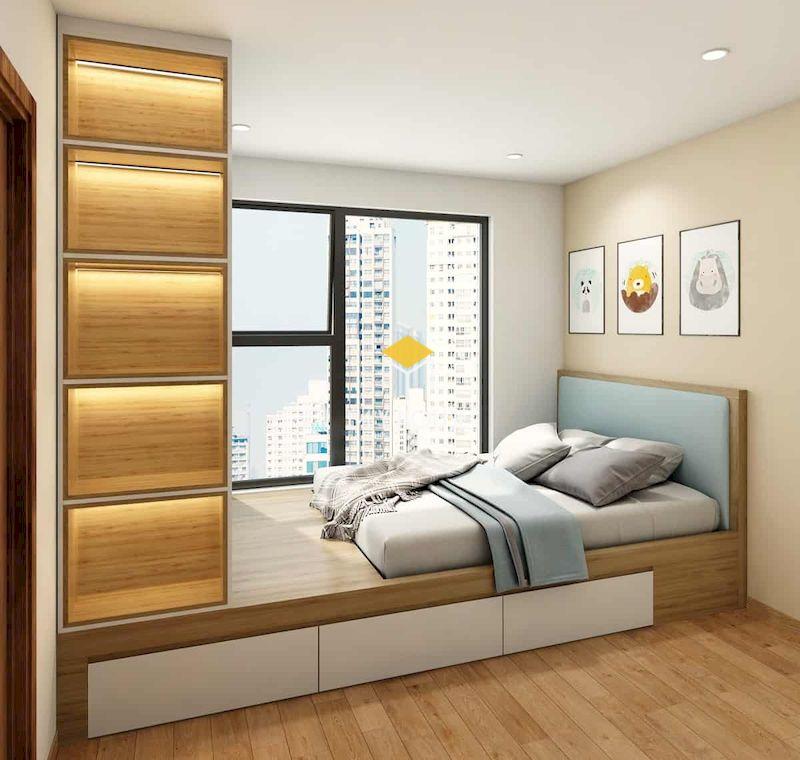 Giường ngủ kết hợp tủ quần áo đa năng cho phòng ngủ nhỏ