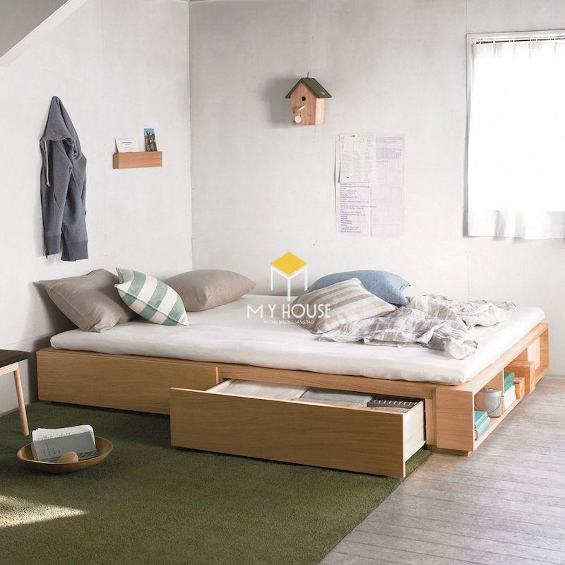Giường ngủ đa năng, kết hợp tủ chứa đồ mini