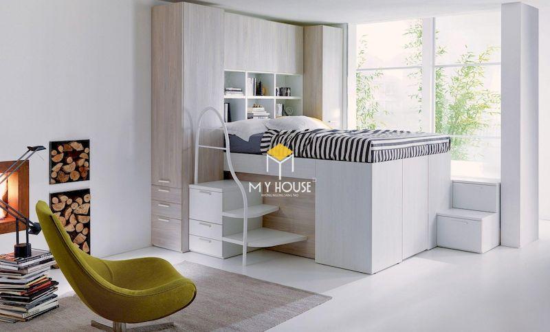 Nội thất đa năng tích hợp tủ quần áo với giường ngủ