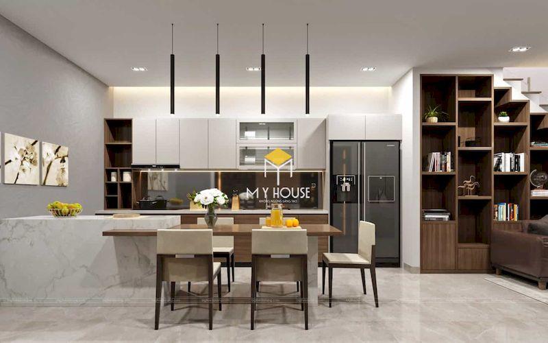 Sử dụng nội thất thông minh như tủ âm tường, tủ bếp nhiều ngăn