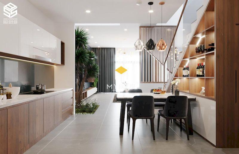 Phòng bếp nhà ống 5m 3