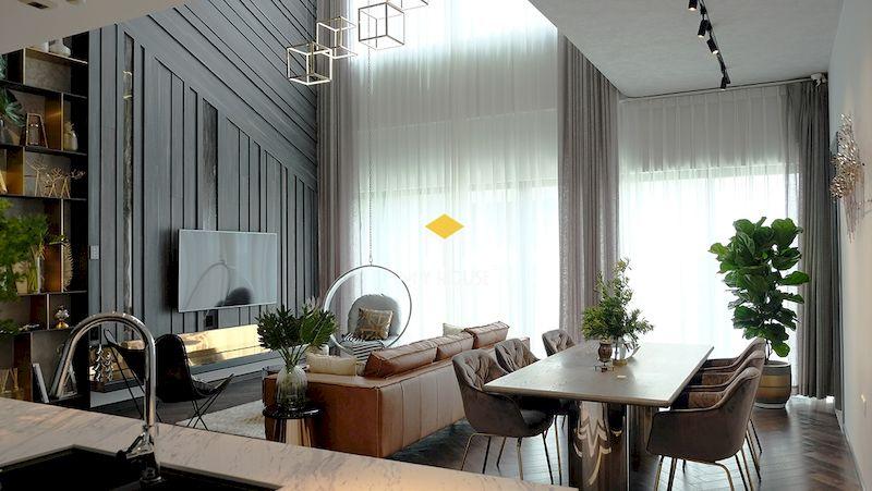 Phòng khách thông tầng cho nhà nhỏ