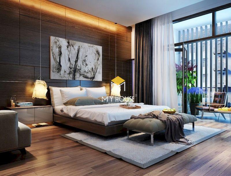 Màu sắc tổng thể của phòng ngủ master