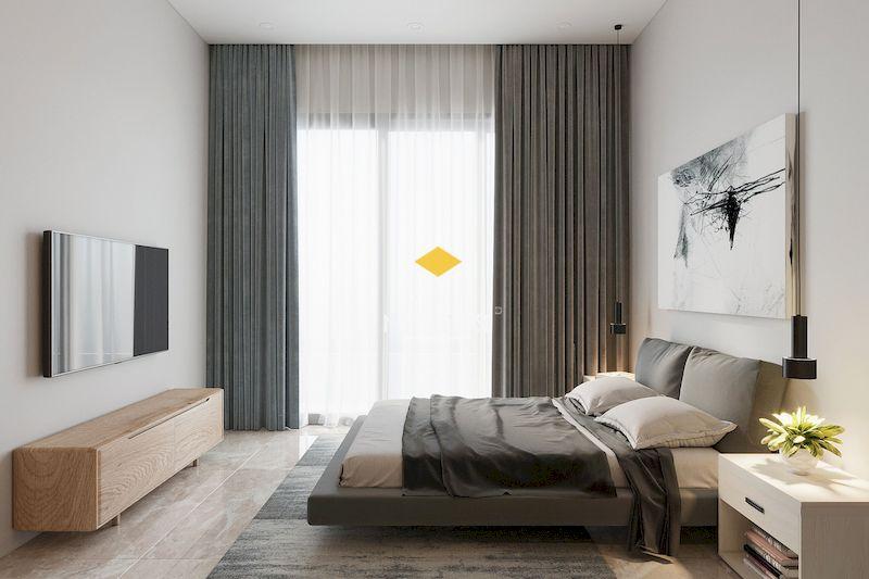 Phòng ngủ master cho chung cư hiện đại, đơn giản