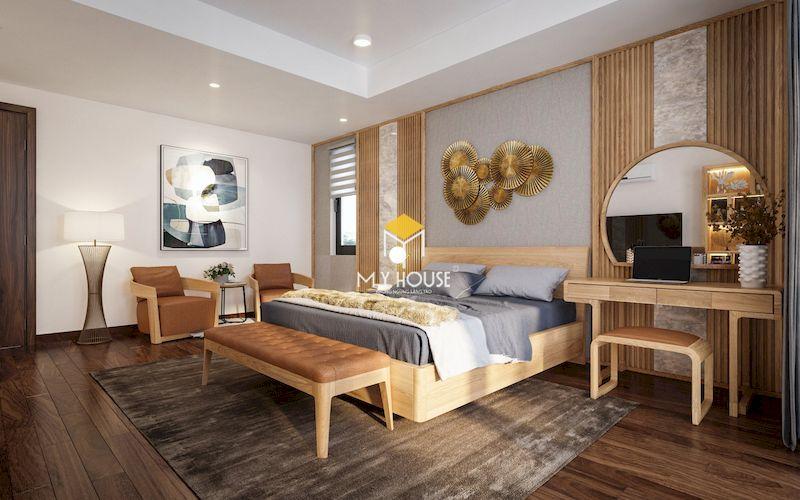 Mẫu thiết kế phòng ngủ gỗ sồi cho gia chủ