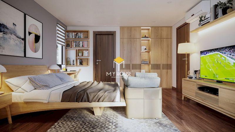 Thiết kế nội thất phòng ngủ tiện nghi - hiện đại - đáp ứng nhu cầu sử dụng của gia chủ