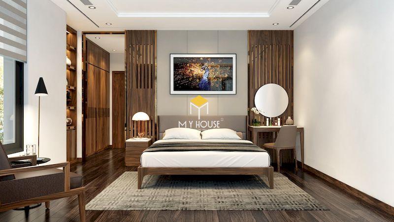 Bố trí giường ngủ trong phòng ngủ master