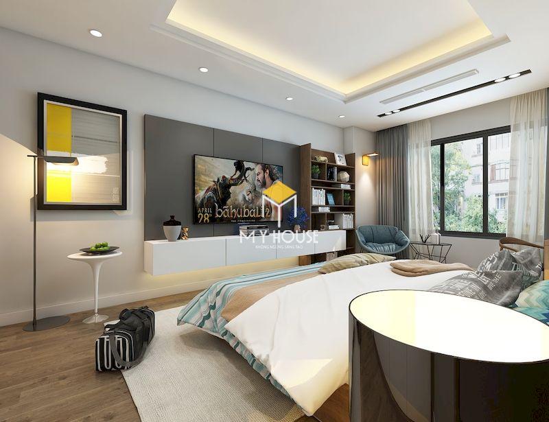 Mẫu phòng ngủ hiện đại với màu sắc sáng, đơn giản