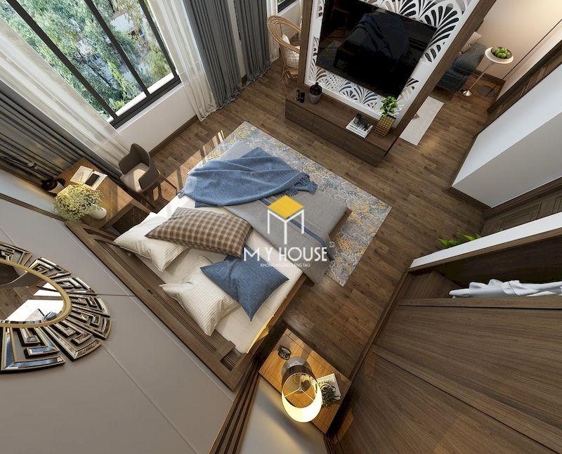 Thiết kế nhà tắm trong phòng ngủ master hiện đại