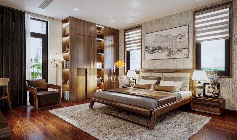 Bố trí nội thất phòng ngủ hiện đại