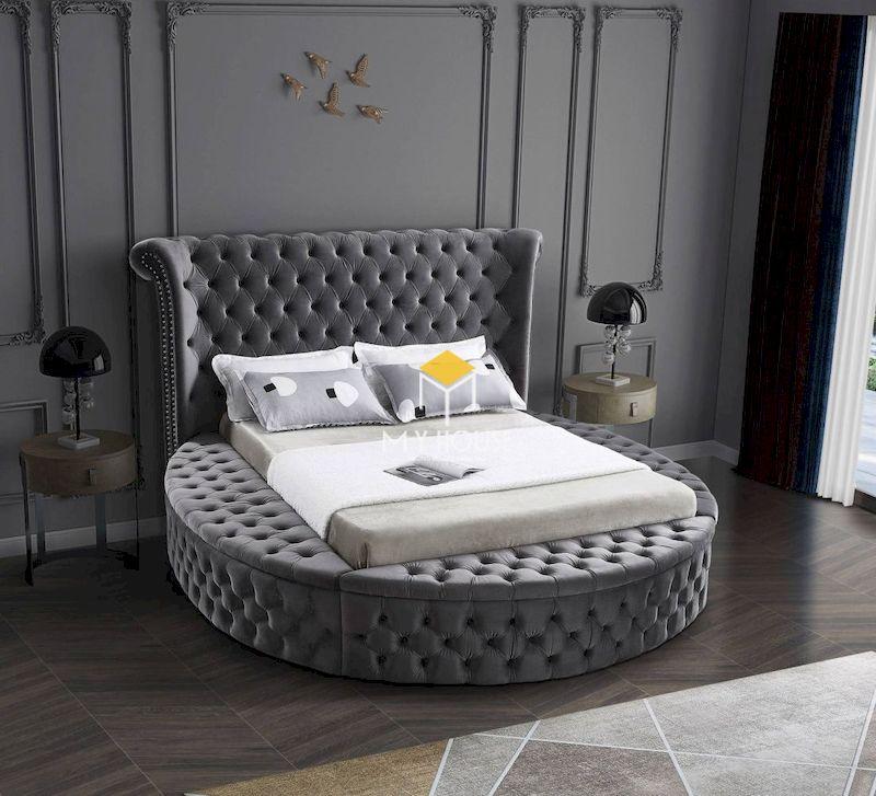 Màu xám mang đến cho không gian nội thất sự thoải mái, phù hợp với phòng ngủ hiện đại, tân cổ điển