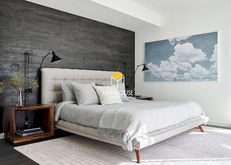 Hãy kết hợp gam màu xám với tone màu trắng, đen, hồng pastel để tạo ra không gian phòng ngủ trẻ trung hơn