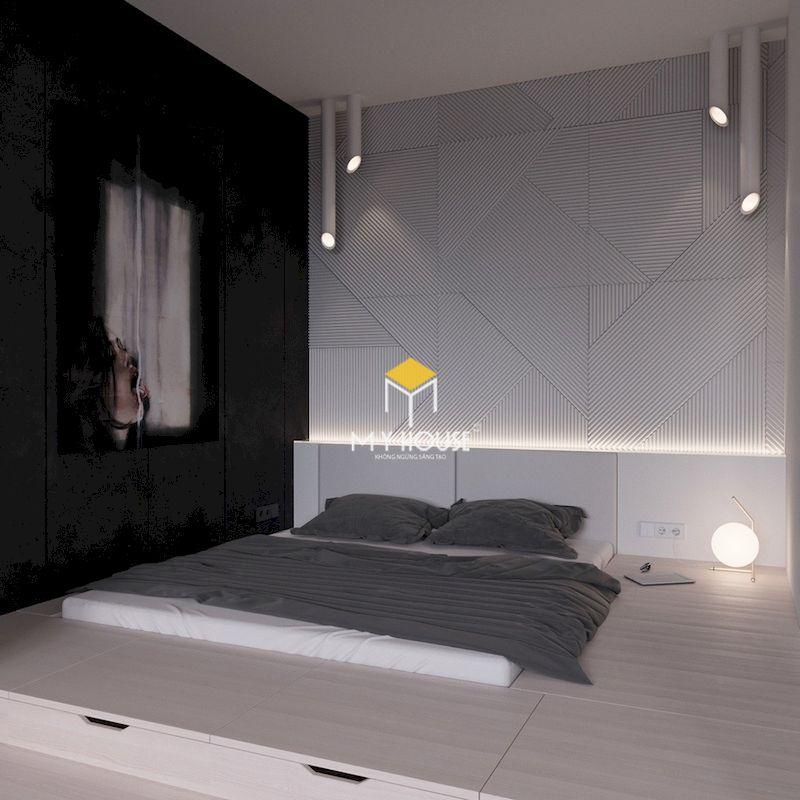 Xu hướng trang trí phòng ngủ màu xám đen