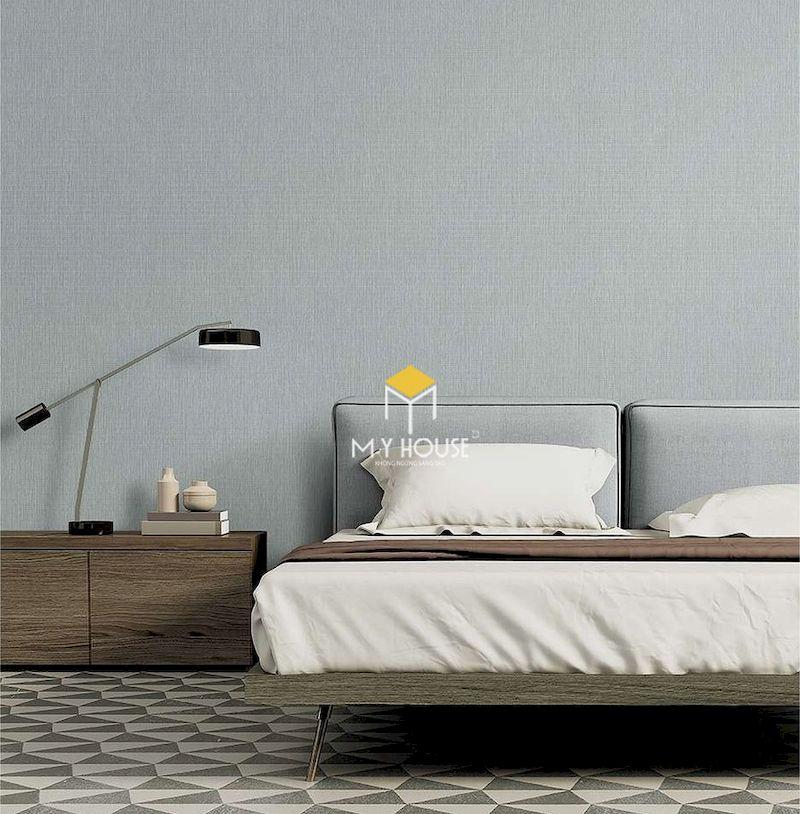 Thiết kế nội thất phòng ngủ màu xám trắng