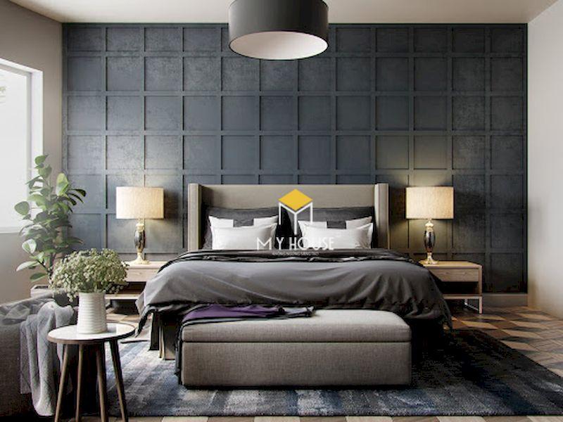 Cách trang trí nội thất phòng ngủ màu xám