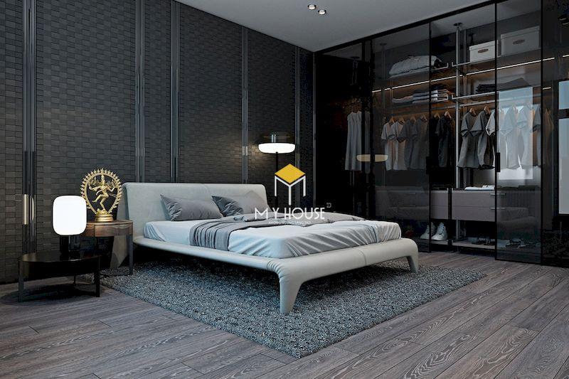 Cách trang trí nội thất phòng ngủ màu xám cho nam