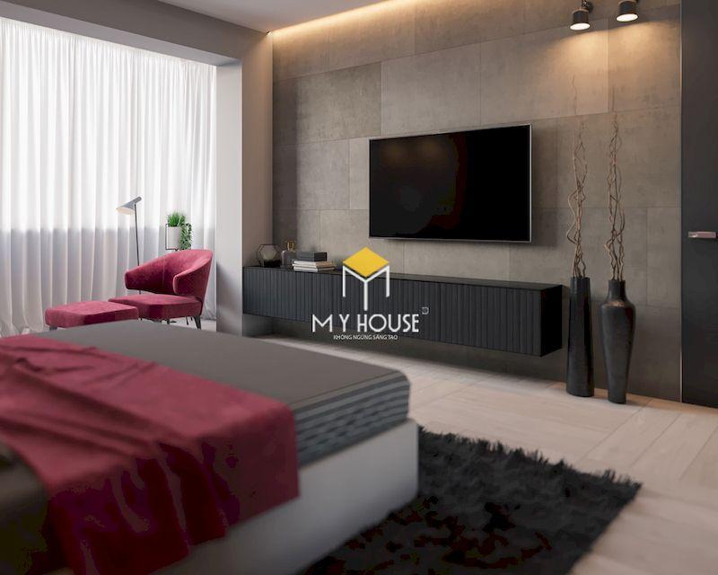 Trang trí nội thất phòng ngủ màu ghi xám