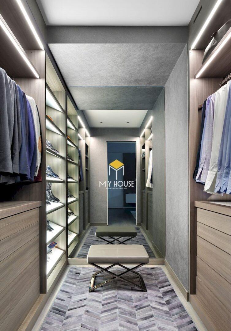 Thiết kế phòng thay đồ bên cạnh phòng tắm
