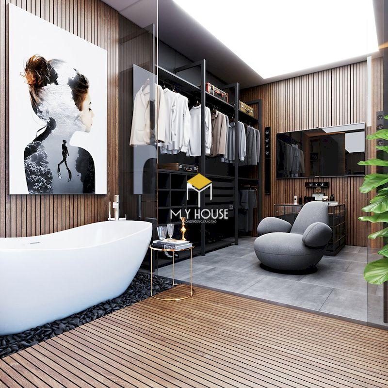 Thiết kế phòng thay đồ kết hợp phòng tắm? Ưu điểm