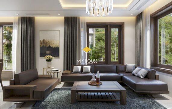 Sofa gỗ góc chữ L 4