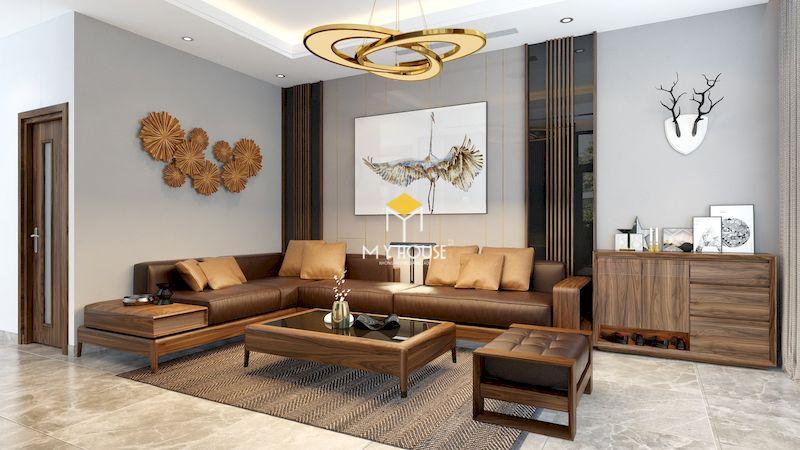 Tại sao nên lựa chọn sofa gỗ góc chữ L cho nội thất phòng khách?