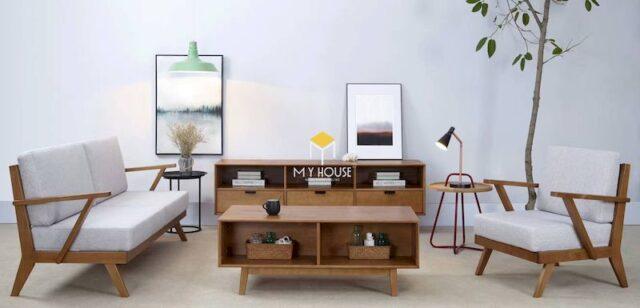 Sofa gỗ kiểu Nhật 1