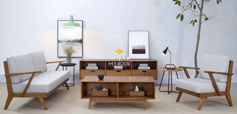 Bộ bàn ghế sofa kiểu Nhật gỗ tần bì