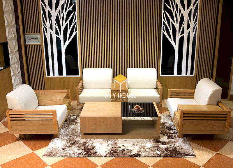 Đặc điểm của sofa gỗ kiểu Nhật - thiết kế gọn gàng