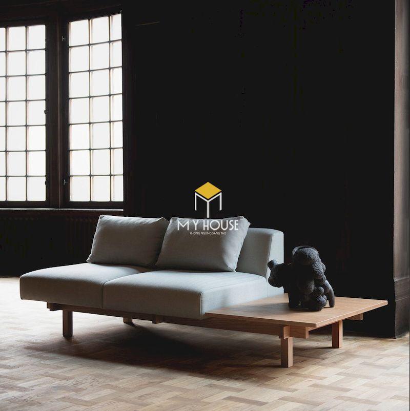 Đặc điểm của sofa gỗ kiểu Nhật- thiết kế chân thấp phù hợp với văn hóa người Nhật