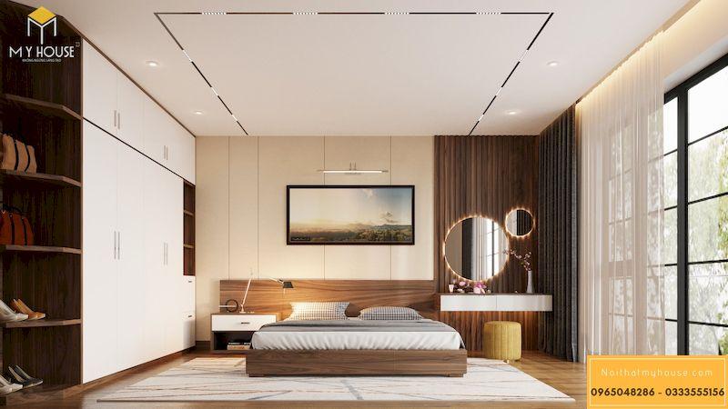 Thiết kế nội thất biệt thự Xanh Villa - phòng ngủ master