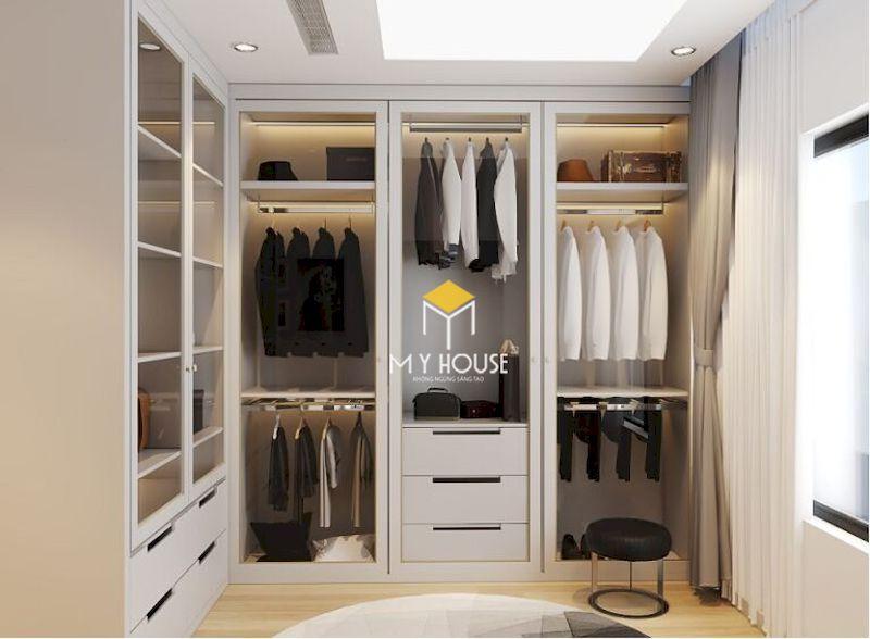 Phòng thay đồ bên trong phòng ngủ master
